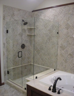 Steam shower bathroom designs - Frameless Shower Doors Modern Glass Designs