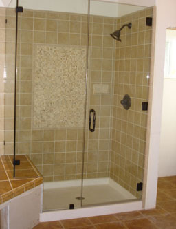 frameless units give a more open look to your shower by eliminating a majority of the metal framework around the glass