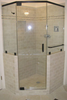Frameless shower doors modern glass designs most neo angle showers consist of a center door with two fixed panels at a 135 degree angle on either side of the door neo angles are ideal for smaller planetlyrics Gallery